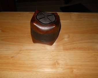 Hand Carved Small wood Storage Box