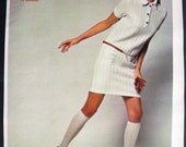 Vintage White Sixties Fashion miniskirt Glamour Girl 1968 Print Ad