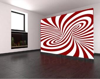 Spiral Pattern Removable Wall Art Decor Decal Vinyl Sticker Mural Graphics