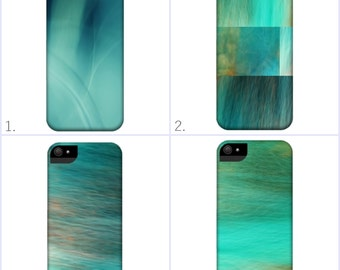 Abstract Smartphone Case for iPhone iPod  Samsung Blackberry HTC Photography Fine Art blue turquoise modern texture