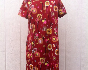 Vintage 60's Mod Print Dress