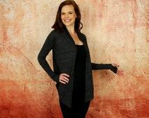 Black Cardigan Wrap, Yoga Wrap, 3 Way Wrap, Lightweight Woman's Top, Yoga Cover-up, by Goddess Gear Designs