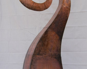Large Spiral Metal Outdoor Sculpture Made to Order By Jacob Novinger
