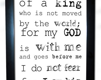 daughter of god king quote spiritual christian faith christ higher power 13x19 inspiration young woman frame poster black white quotes f30