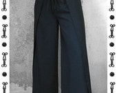 WRAP PANTS WOMEN, wool, long, business, trousers, classic, vintage, black, khaki, violett,  shaolin, sarouel, jodphur