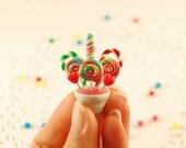 miniature candy bouquet - miniatures- miniature food