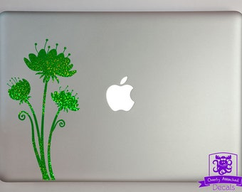 Whimsical Flowers Macbook Laptop Decal