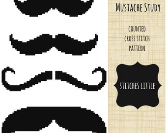 Free Beard And Moustache Knitting Pattern : Cute. Creative. Contemporary. Cross Stitch. by StitchesLittle