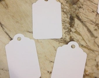 Solid White Tags, set of 50