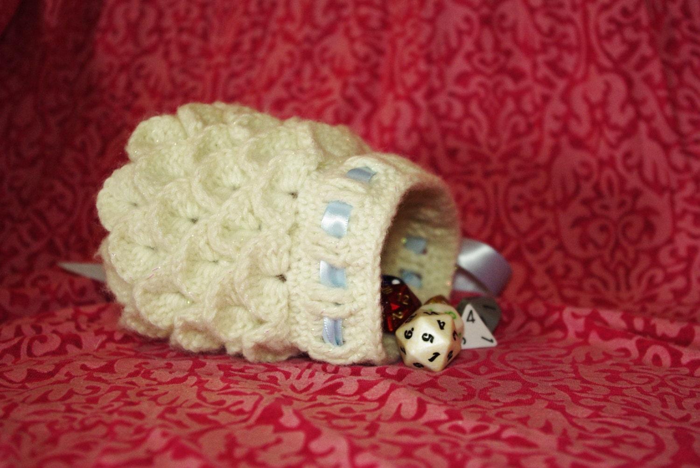 Dragon Dice Bag Crochet Pattern : Crochet Dragon Scale Dice Bag