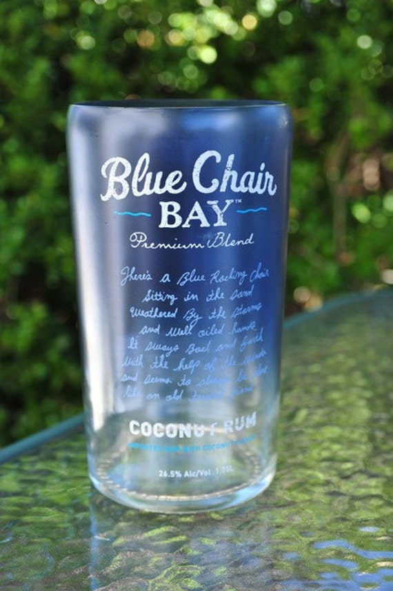 upcycled blue chair bay vase