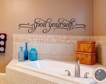 Bathroom Wall Decal - Bathroom Decor - Wall Decal - Wall Decals - Vinyl Wall Decals - Decals for the Home -Family Wall Decal