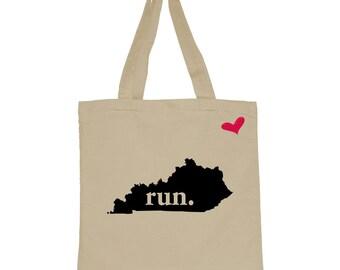 RUN Kentucky Canvas Tote Bag