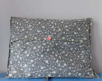 Grey Cushion cover (30 x 40 cm) with neon stitching