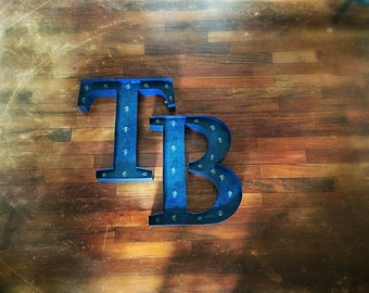 Vintage Marquee Sign - Tampa Bay Rays - Handmade