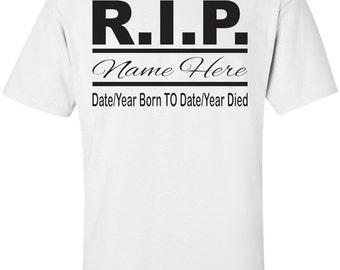 Rest In Peace Customized Name Date Design Vinyl Transfer