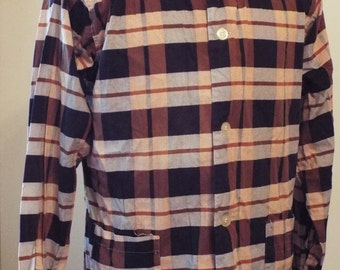 Vintage Long Sleeve Button Down Shirt by Custom Tailored