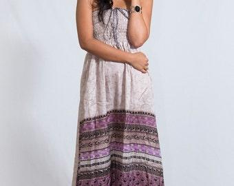 Purple Fields Tube Dress