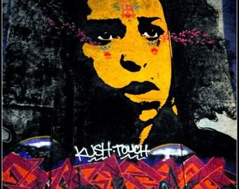 Photography print, Urban graffiti, Bristol England, urban photography, gift for him, graffiti print loft decor, street art print, Urban art.