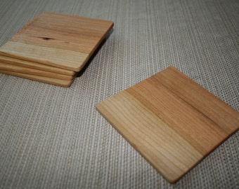 Set of 5 Handmade Cherry Wood Coasters