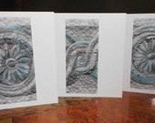 Set of 3 Greetings Cards/Notecards ~ 'Archi-Texture'