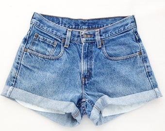 ORIGINAL BLUES High Waisted Shorts levis wrangler, gap, guess