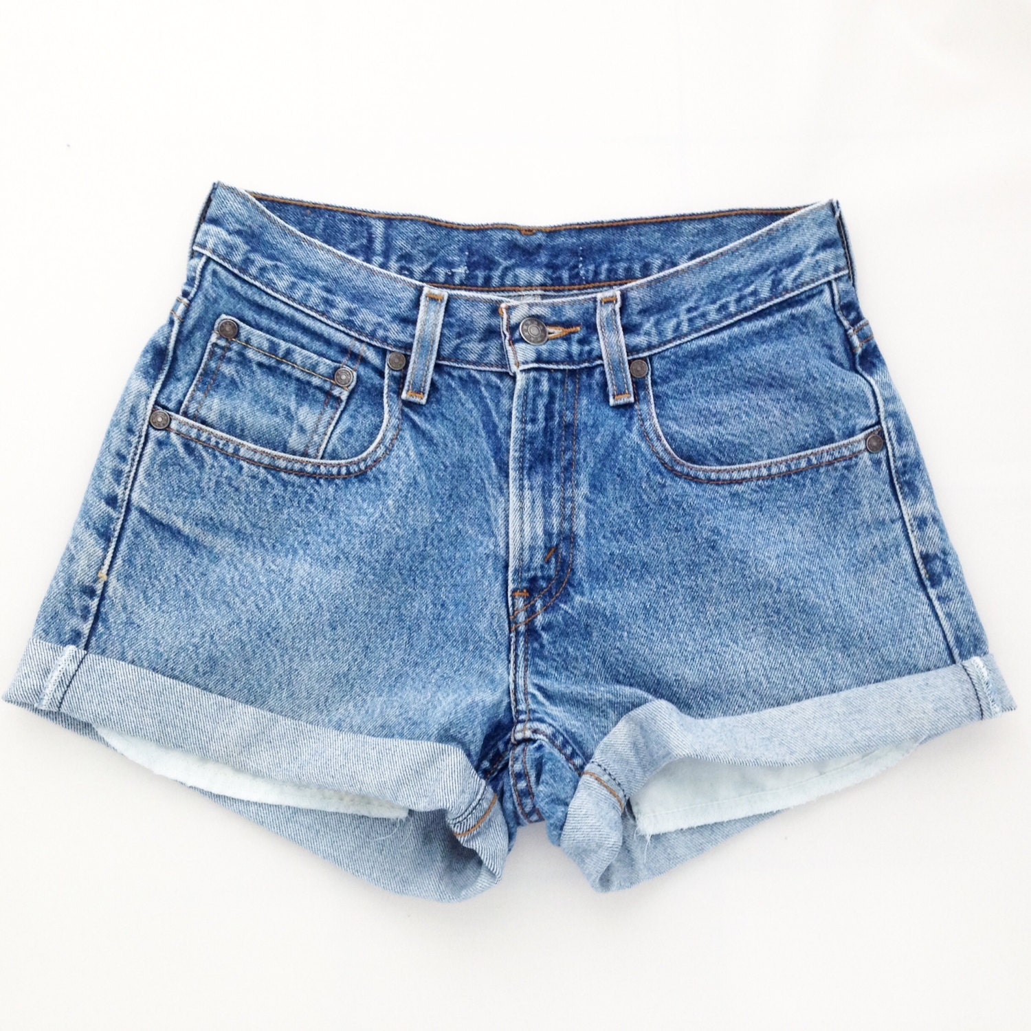 ORIGINAL BLUES High Waisted Shorts levis wrangler gap guess