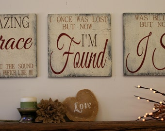 signs Decor Wallhanging Decor  Chic Chic Amazing Wood  religious rustic Rustic Farmhouse  Grace