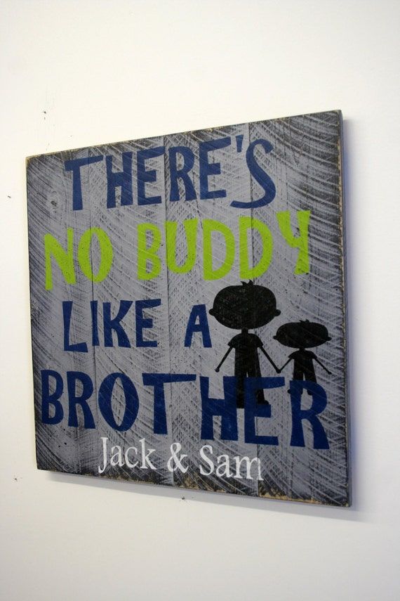 Boys bedroom custom sign personalized pallet theres no buddy - Custom signs for home decor concept ...