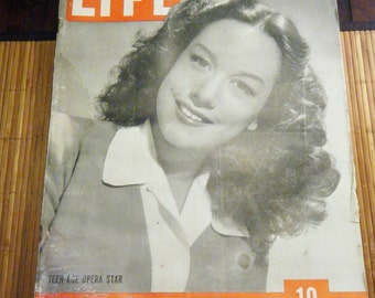 Vintage Life Magazine - February 21, 1944 with Teenage Opera Star Patrice Munsel on the cover
