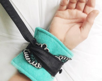 HandCuffs/Restraints-Cashmere, Black/White Lace, Aqua/Black-50 Shades