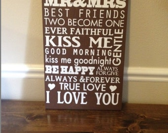 MARRIAGE, Anniversary, wedding rules, marriage rules, love saying, wall art, wood and vinyl sign,marriage sayings.
