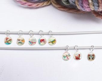 Stitch Markers, Animal Stitch Markers, Knitting Supplies, set of Knitting stitch markers - Knitting Gifts (stitch markers 8)