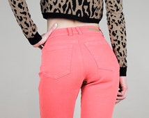 ON SALE • 90s SALMON High waist stretch jeans