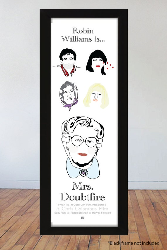 "Items similar to Mrs. Doubtfire (1993) Inspired 6""x19 ..."