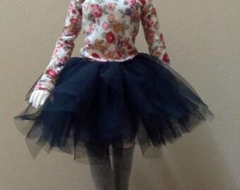 BJD tutu skirt for MSD - black