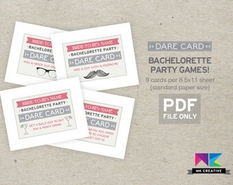 Bachelorette Game / Bachelorette Party Game / Personalized / Dare Cards / Truth or Dare