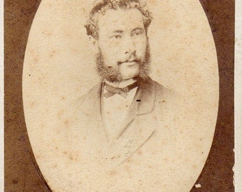 "Antique Photo of Gent with Muttonchop Sideburns ID""d"