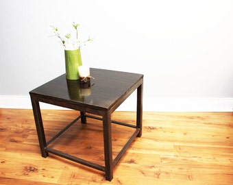 Industrial Concrete End Table With Steel Legs