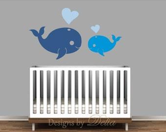 Boy or Girl Nursery Whale Decals