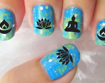 Reiki healing symbols nail art rk2 med long nail waterslide 70 mixed buddhist symbol nail art decals megapack bx1 diwali meditation lotus prinsesfo Choice Image