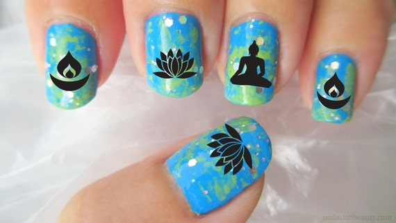 70 mixed buddhist symbol nail art decals megapack bx1 like this item prinsesfo Choice Image