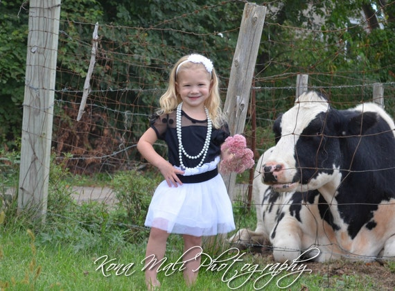 The Rose - Black/White, Lace, Tulle, Flower Girl Dress, girls dress, birthday dress, vintage dress, 1st birthday, toddler dress size 2T & 3T
