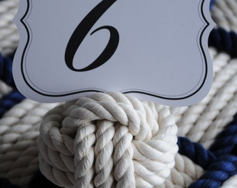 Nautical Wedding Knots - Special Event Tables - Sailing Decoration - Nautical Decor - (smaller 4 inch knots) - (this is for 15 knots)