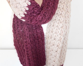 Knit Scarf Shawl Chunky Scarf Knitted Warm Scarf Winter Scarf Women Holiday Fashion Accessories Christmas Gifts New Year's Gifts For Her