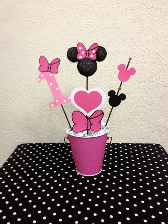 Minnie mouse birthday decoration centerpiece baby shower for Baby minnie mouse party decoration