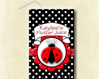 """Ladybug Juice Box Wraps PDF Are A Fun Way To """"Dress Up"""" The Juice For The Party"""