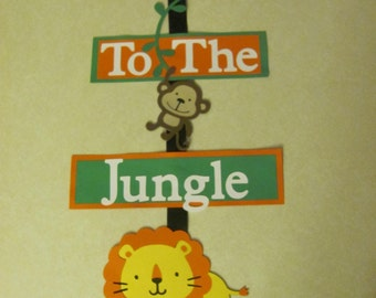 Welcome Jungle Birthday Party Sign - Jungle Birthday Party - Customize