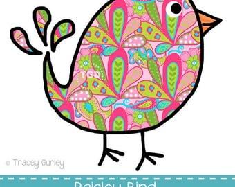 Clip Art Paisley Clip Art paisley clipart etsy preppy bird original art download clip printable graphic