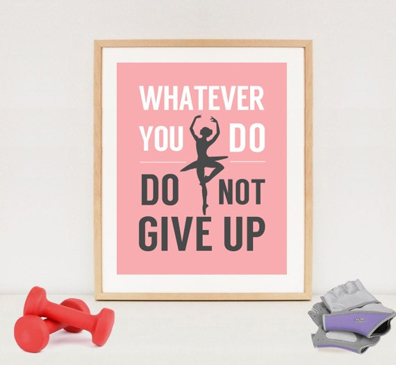 Poster Weights Etsy: Ballet Motivation Poster Printable Digital Weight Loss